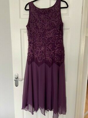£10 • Buy Jacques Vert Plum Dress And Jacket Size 14 Special Occasion