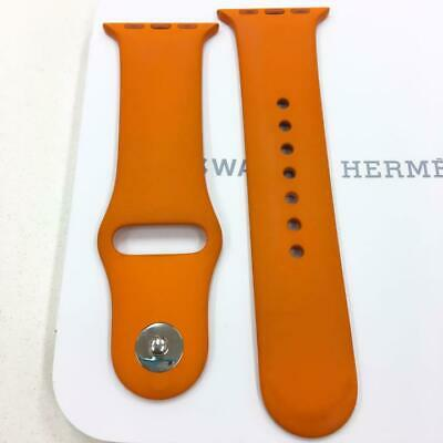 AU247.21 • Buy Hermes Apple Watch 4 Silicone Sport Strap Replacement Band Orange 38mm Used