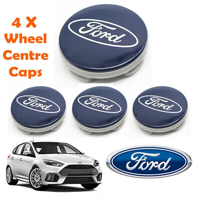 £7.88 • Buy Fits Ford 54mm Alloy Wheel Center Hub Caps Cover For Focus Fiesta Blue (4 Pcs)