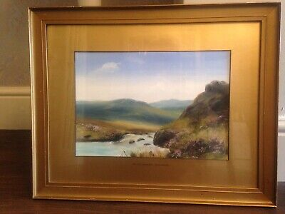 £95 • Buy Old Original Painting  On The Okement Dartmoor  Signed - George H Jenkins?
