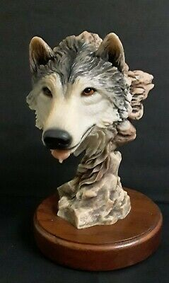 $38 • Buy Mill Creek Studios 'Before The Chase' Wolf Sculpture W. Water Dripping On Tongue