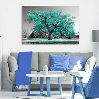 £8.95 • Buy Unframed Large Tree Canvas Wall Art Oil Painting Picture Print Home-Decorations