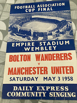 £2.99 • Buy Bolton V Manchester United Fa Cup Final 1958 Song Sheet