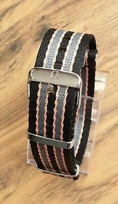 £24.99 • Buy Unique 20mm Nylon Greek Omega Watch Strap Band James Bond No Time To Die Style