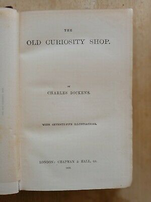 £0.99 • Buy The Old Curiosity Shop By Charles Dickens 1893 / 75 Illustrations
