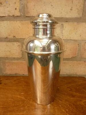 £49.99 • Buy Lovely Vintage Large Maple & Co Silver Plated Cocktail Shaker 2 Pint