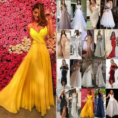£29.89 • Buy Women Formal Evening Party Long Maxi Dress Cocktail Gown Prom Ball Slit Dress,
