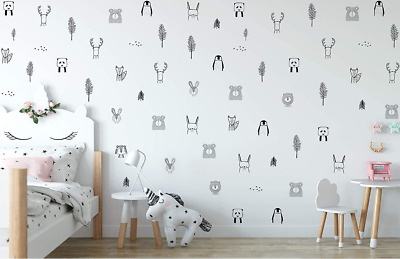 £11.10 • Buy Animal Wall Stickers For Kids Bedrooms Safari, Woodland,Jungle Theme GREAT PRICE