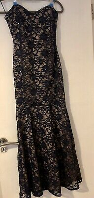 £22 • Buy Ladies Evening Prom Maxi Dress Bare Shoulder Navy Fishtail Size 10 New With Tag