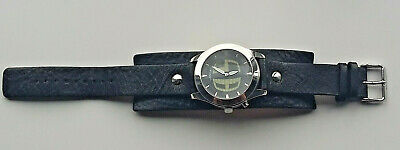 View Details Fossil JR-8122 Big Tic Leather Cuff/Band Men's Watch (with New Batteries) • 35.00£