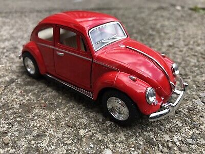 £9.99 • Buy Vw Beetle Bright Red Toy Model Car Ideal Gift Company Desktop Display Item New