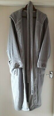 £3.20 • Buy Gorgeous Soft Grey Ladies Hooded Dressing Gown With Pockets - Size 22 - 24