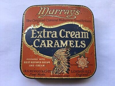 £24.99 • Buy C1920s VINTAGE MURRAY'S EXTRA CREAM CARAMELS TOFFEE TIN