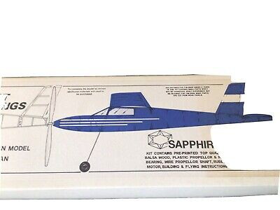 £23.95 • Buy West Wings Sapphire Rubber Powered Duration Model Plane 825mm Span New FREEPOST