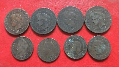 £1.99 • Buy 8 FRANCE 5 & 10Centimes COINS, 1855-97