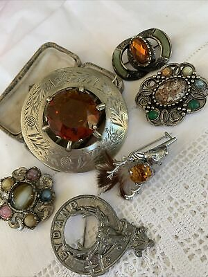 $ CDN17.17 • Buy Collection Job Lot Of Vintage 1950s/60s/70s Scottish Brooches
