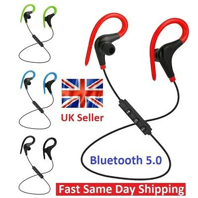 £3.99 • Buy Bluetooth 5.0 Sports Stereo In-Ear Earphones Headphones Headset Android - Iphone