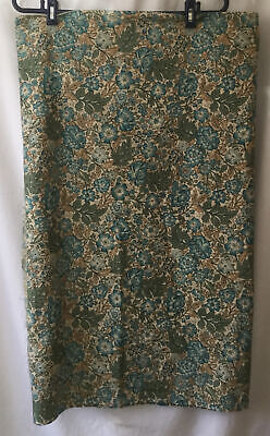$27.61 • Buy Fabric Remnant, Green , Blue Floral Cotton. 4.20m Length.