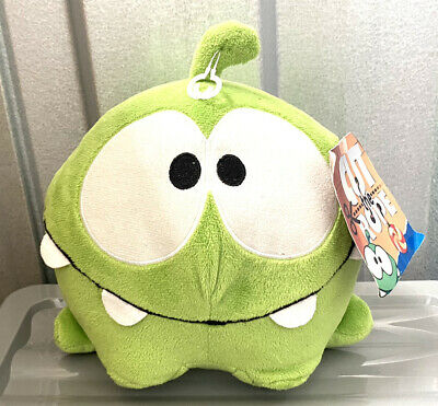 """£19.99 • Buy Commonwealth Cut The Rope 5"""" OM NOM Green Happy Hungry Stuffed Animal Plush NEW"""