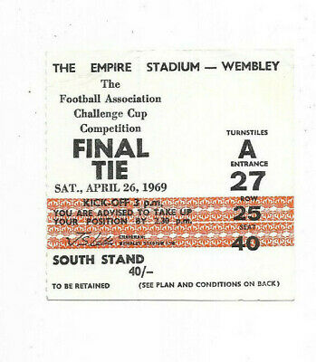 £2.99 • Buy Ticket 1969 FA Cup Final - MANCHESTER CITY V. LEICESTER CITY