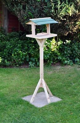 £19.95 • Buy Traditional Wooden Bird Food Table Feeding Station Free Standing Free Delivery