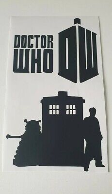 £2.40 • Buy Dr Who Vinyl Decal Sticker Laptop Water Bottle Lunchbox Wall Door Dr Who Design