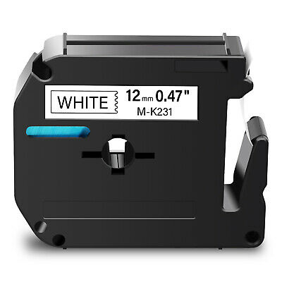 $2.99 • Buy 1PK Black On White Label Tape For Brother M-K231 M231 P-touch PT-70/80/90 1/2