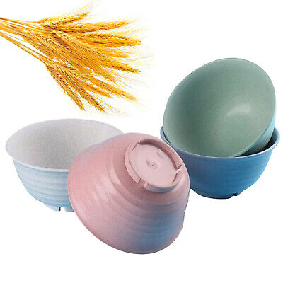 £12.58 • Buy Unbreakable Large Cereal Bowls 52oz Wheat Straw Degradable Bowl Set 4- Nowcooks