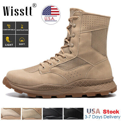 $38.97 • Buy Men's Army Military Combat Boots Waterproof Fishing Hiking Tactical Work Shoes