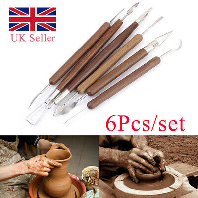 £3.79 • Buy 6Pcs/Set Clay Sculpting Foam Crafts Wax Carving Pottery Tools Shapers Modeling