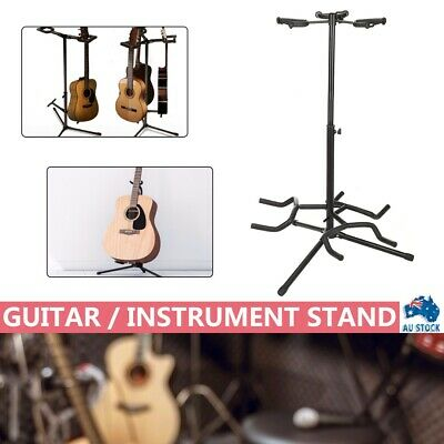AU29.99 • Buy Upgraded Folding 3 Guitar Stand Bass Tripod Electric Acoustic Floor Holder Rack