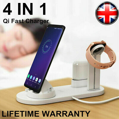 £11.99 • Buy 4 In 1 Charging Station Charger Stand Dock For Apple Watch IPhone IPad Air Pods