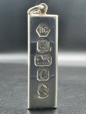 £14.90 • Buy Sterling Silver Ingot With Hallmark Decoration Weights 15.5g Smooth Edges Chunky