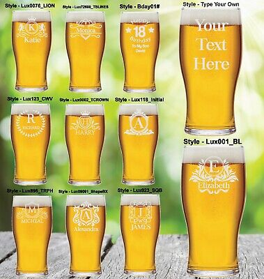 £7.49 • Buy Personalised Pint Glass Engraved Fathers Day Birthday Best Man Beer Glass Party