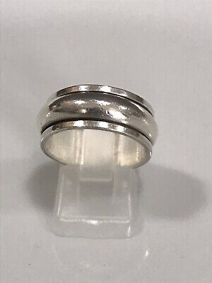£14.99 • Buy 925 Sterling Silver Spinning Ring, Size:P