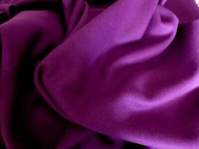 £5.99 • Buy Gorgeous 100% Boiled Wool Fabric Remnant Colour Purple