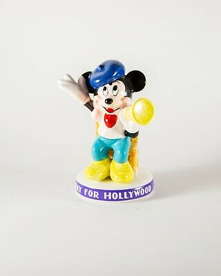 £3.61 • Buy Vintage Ceramic Mickey Mouse Disney Director In A Chair Figurine