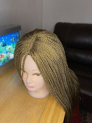 £20 • Buy Braided Wig, Twisted Braid, Very Lightweight, Brown Colour, Neatly Done