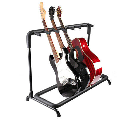 $ CDN46.05 • Buy 7 Guitar Rack Holder Stand Storage Folding Display Stage Electric Acoustic Bass
