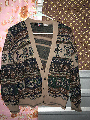 $24.99 • Buy THE ITALIAN SWEATER CO. Men's Wool Blended M Cardigan Sweater Made In ITALY VTG