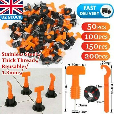 £10.99 • Buy 50-200pcs Tile Leveling System Kit Reusable Tile Spacer Wall Floor Clips Tools