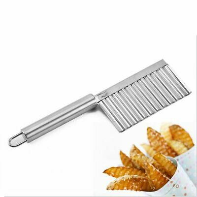 £4.79 • Buy Potato Cutter Chip Salad Vegetable Crinkle Wavy Cutter Tools Stainless Steel
