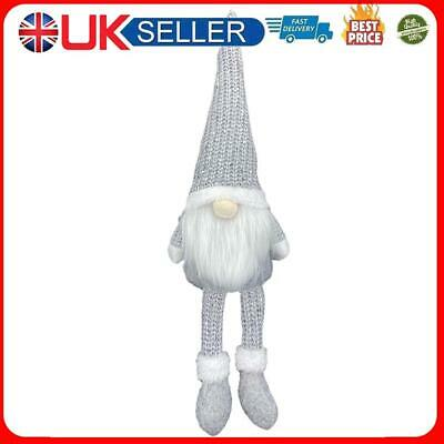 £4.05 • Buy Nordic Style Christmas Faceless Doll Ornament Home Desk Decorations (Grey)