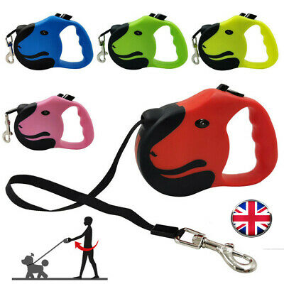 £6.99 • Buy Durable Retractable Dog Leads Nylon Lead Extending Puppy Running Walking Leash