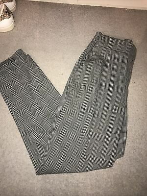 £2.99 • Buy Dogtooth Check Straight Trousers Size Medium