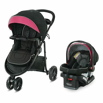 £159.98 • Buy Graco Modes 3 Lite DLX Travel System, Arbis Pink With Snuglock 30 Car Seat!