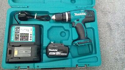 £70 • Buy NEW ! Makita DHP453 18v LXT Cordless Combi Drill 1 X Battery + Charger And Case