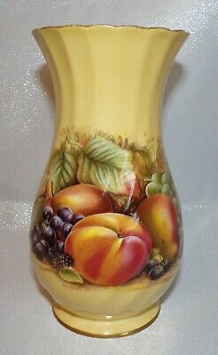 £7.99 • Buy Beautiful Aynsley Orchard Gold Relief Moulded Grape Peach & Pear Vase