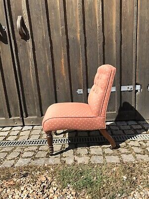 £50 • Buy Upholstered Victorian Bedroom Chair On Casters