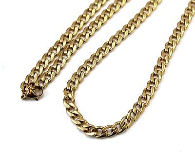 $6.89 • Buy YELLOW GOLD TONE 6MM Wide Cuban Link 24  Chain Costume Necklace - B22